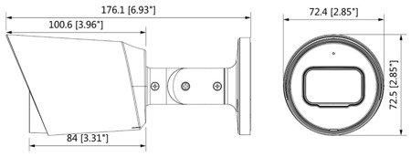 KAMERA AHD, HD-CVI, HD-TVI, PAL DH-HAC-HFW1230TP-A-0 360B 3.6mm DAHUA