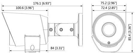 KAMERA AHD, HD-CVI, HD-TVI, PAL DH-HAC-LC1200T-TH-02 80B - 1080p 2.8mm DAHUA