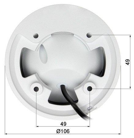 KAMERA WANDALOODPORNA HD-CVI, PAL DH-HAC-HDW2401EMP-A- 0280B - 3.7Mpx 2.8mm DAHUA