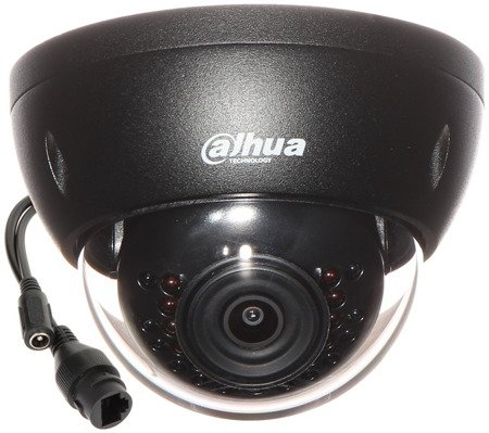 KAMERA WANDALOODPORNA IP DH-IPC-HDBW1230EP-0 280B-BLACK - 1080p 2.8mm DAHUA